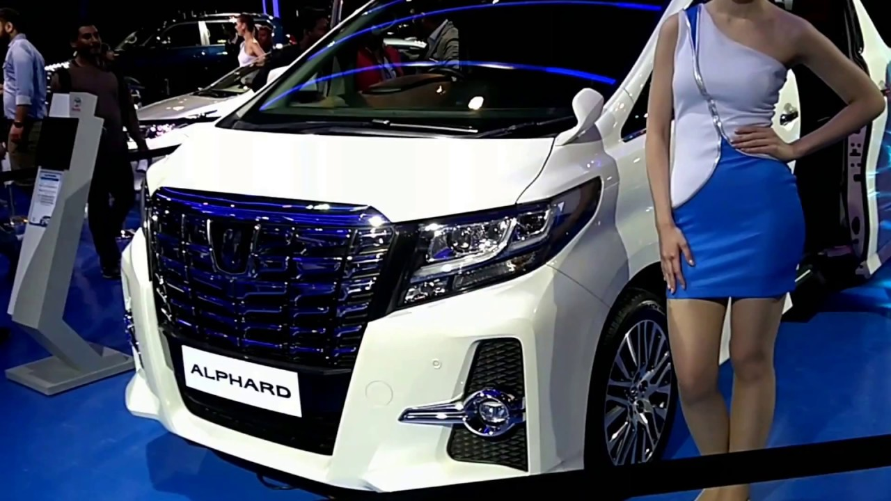 Toyota Alphard Luxury Car Indian Auto Expo 2018 First Look And