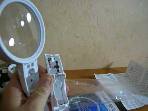 Увеличительное Стекло ЛУПА 40x 25mm с подсветкой для ювелиров .
