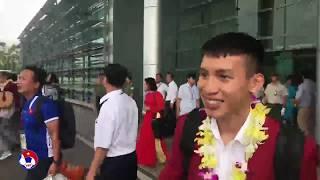 Trực Tiếp Olympic Việt Nam về Hà Nội trong sự chào đón của hàng nghìn người hâm mộ   VFF Channel