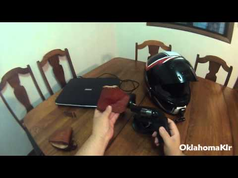 Concealed weapon holsters for motorcycle use