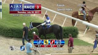 Ajax Downs, July 20, 2017, Race 3