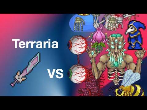 Terraria mobile 1.3.0.7 meowmere vs all bosses