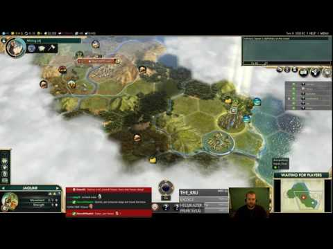 Civilization 5 Multiplayer 160: Aztecs ( BNW 6 Player Free For All) Gameplay/Commentary