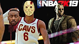 BECOMING JASON ON HALLOWEEN AND KILLING THE WIZARDS AT THE END OF A CLOSE GAME! - NBA 2K19 MyCAREER
