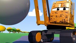 El lavado de Autos de Tom -  Dani la Grua de Demolicion Esta Cubierta Con Barro! - Dibujos animados