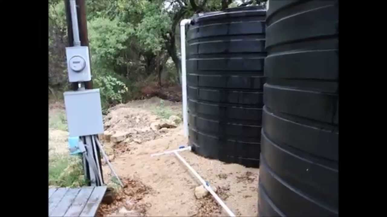 Second Water Storage Tank at the Preppers Retreat