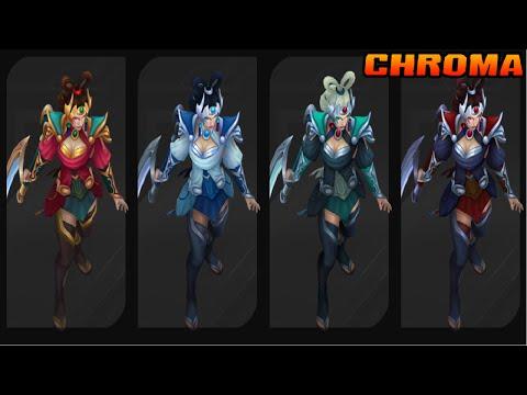 Skin Diana Déesse Lunaire (Palette Chroma) - League of Legends