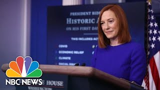White House Holds Press Briefing: January 22 | NBC News