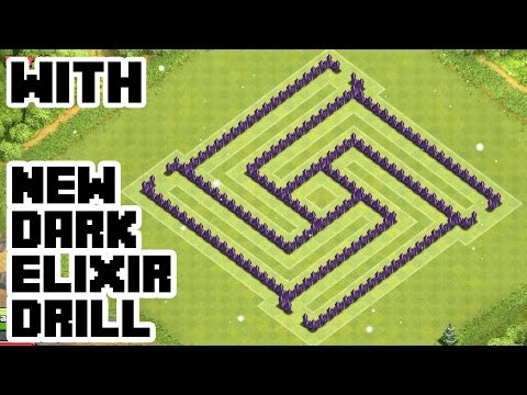 CLASH OF CLANS - TH7 HYBRID BASE BEST TOWN HALL 7 Defense With NEW DARK ELIXIR DRILL