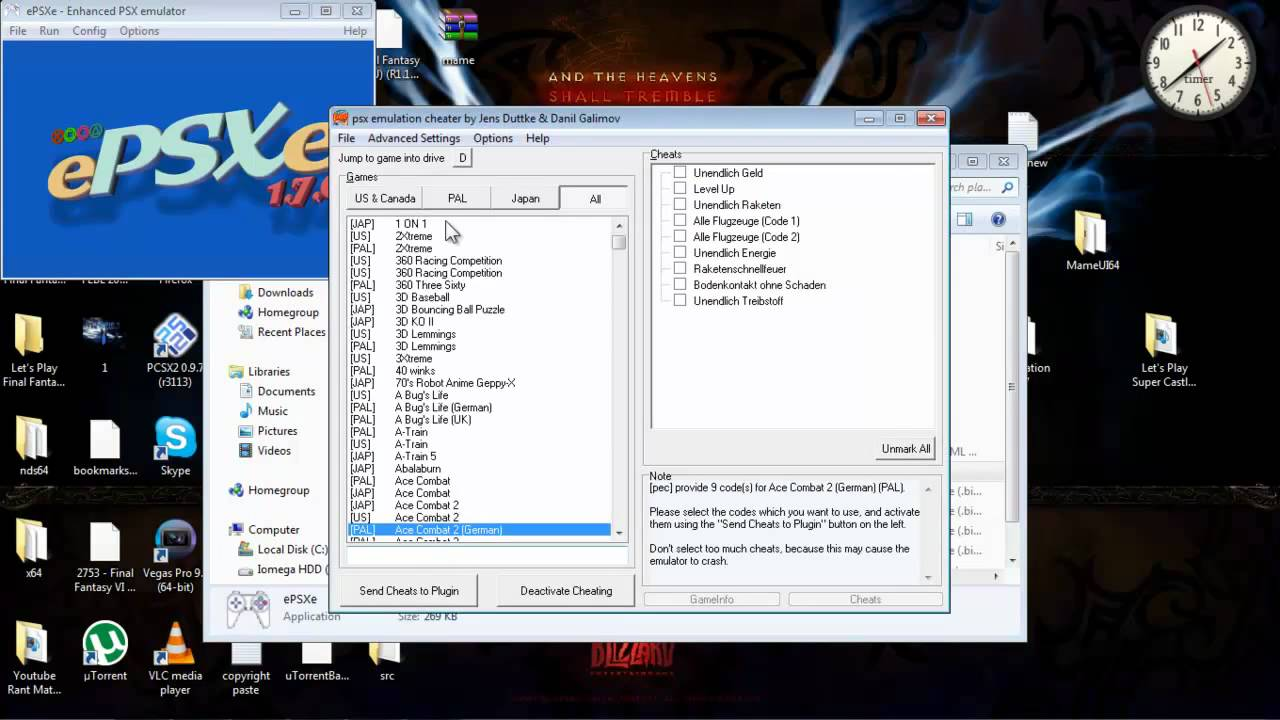 final fantasy 7 cheats psx emulator