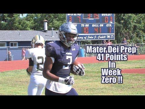 Mater Dei Prep 41 Pinelands 8 | Week Zero Highlights