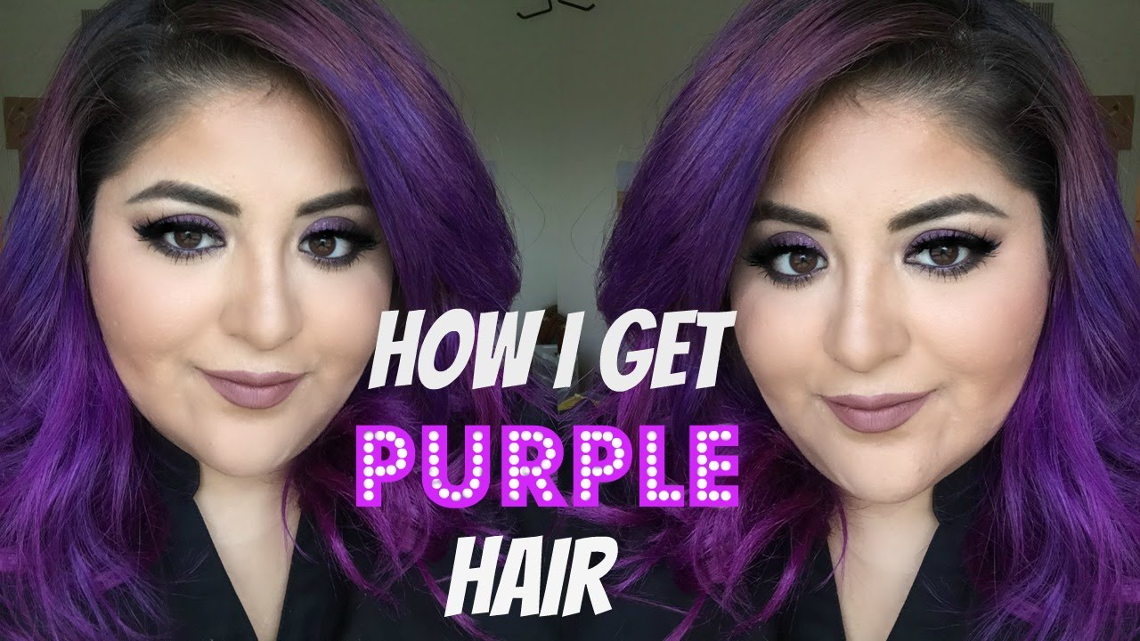 how to make purple hair dye fade faster
