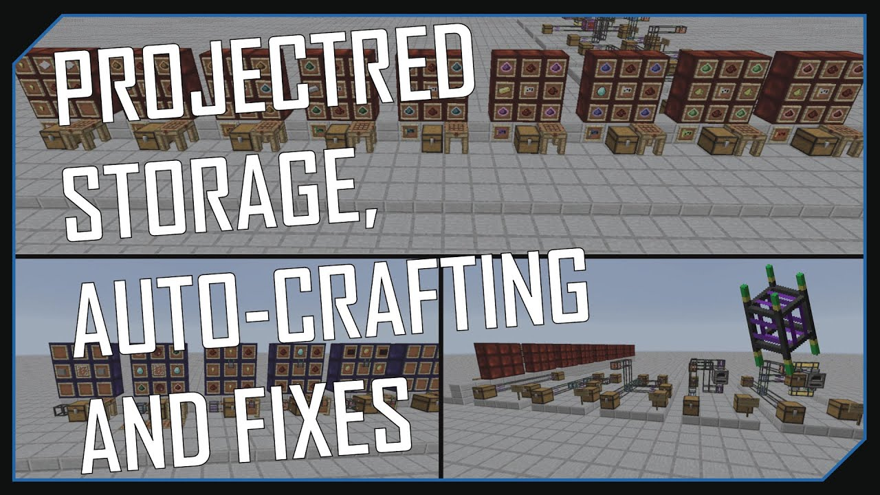 PROJECTRED - STORAGE, AUTO-CRAFTING AND FIXES