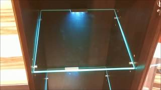 Led Lights Edge Lit Glass Cabinet Shelf Backlighting / How To Install / Blau Schrank / Regal