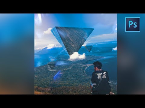 [Photoshop Manipulation] How to Make a pyramid Reflection in Photoshop - geometry tutor #3