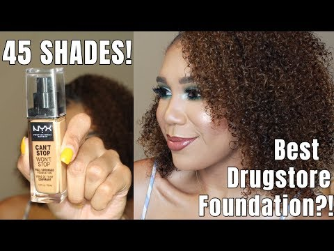 NYX CAN'T STOP WON'T STOP Foundation Review & Wear Test thumbnail