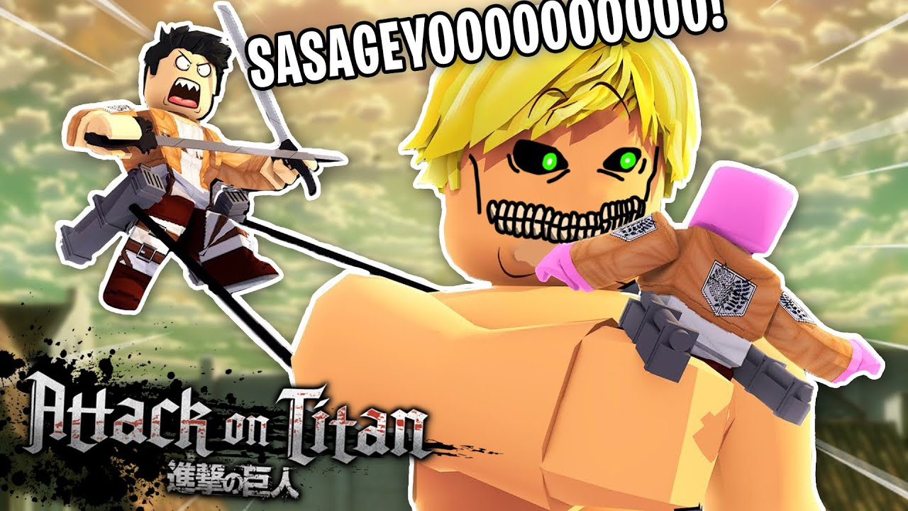 ATTACK ON TITAN EN ROBLOX (termine siendo comida de titan 😭👌)