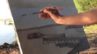 Ограниченная палитра  Тон в живописи  Художник Артем Пучков, пленэр в Переславле