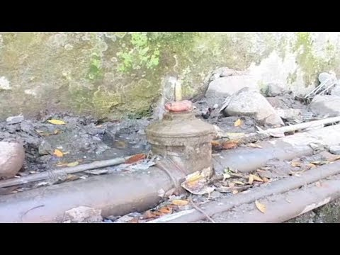 People forced to drink contaminated water due to leakage