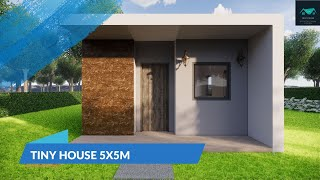 House Design 5x5m | Tiny House With Flat Roof