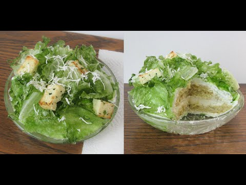 realistic salad cake tutorial youtube