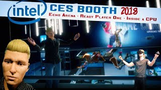 ✔ Inside Intel VR CES Booth 2018 | Echo Arena, Ready Player One, Go Inside an 8th Gen Chip!