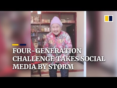 Four-generation challenge takes social media by storm in China