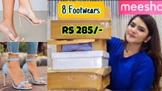 Meesho Footwear haul starting Rs 285 - 1000 | Heels, Flats, Wedges, Sandals | Stylish | #Meesho