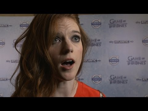 Rose Leslie (Ygritte) Interview - Game of Thrones Season 4 Premiere