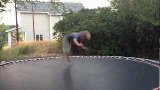 KID HANGS HIMSELF IN CRAZY TRAMPOLINE ACCIDENT!  BACKFLIP FAIL!
