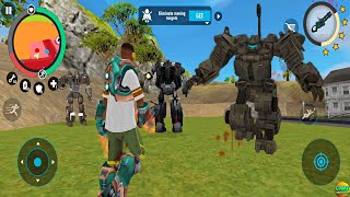 Giant Robot Real Gangster Crime Boss Robot Fight Simulator Android Gameplay screenshot 4