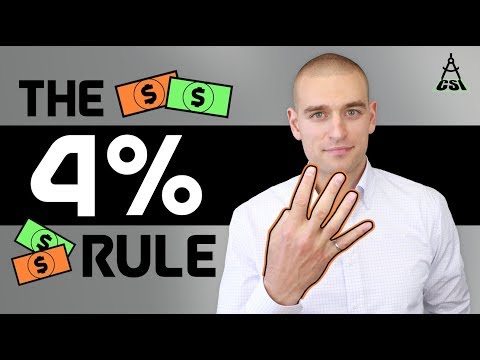 The 4% Rule For Retirement (FIRE)