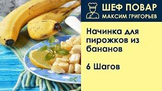 Начинка для пирожков из бананов . Рецепт от шеф повара Максима Григорьева