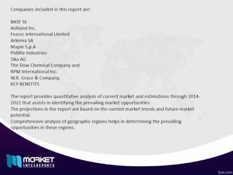 World Construction Chemicals Market  Outlook Till 2021   Revenue Models