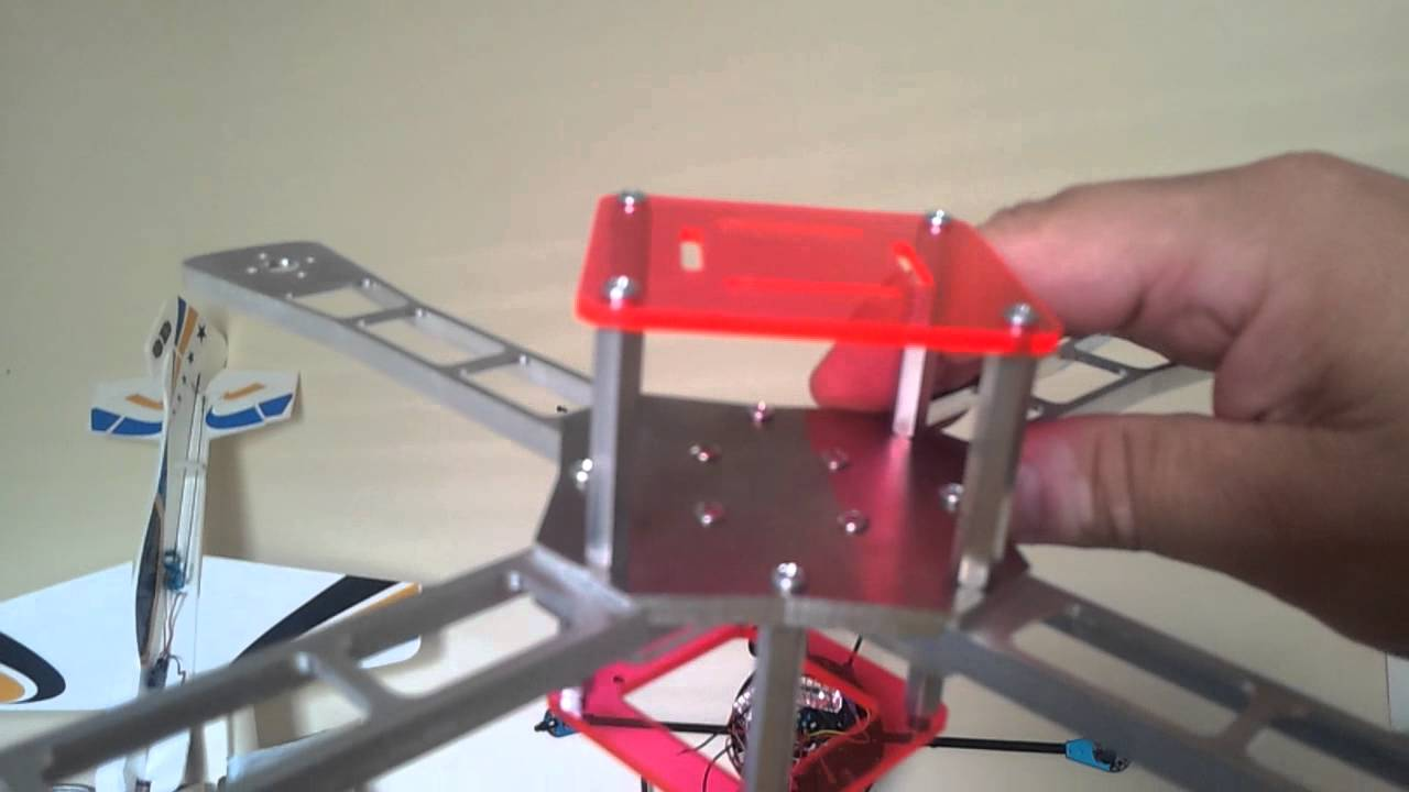 BUILD - PART 1) New Iconic-X Quadcopter sport frame made from ...