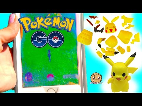 Cookieswirlc Plays Pokémon Go , Build A Pikachu , Pancham and Eevee Builder Playset