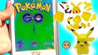 Cookieswirlc Plays Pokémon Go , Build A Pikachu , Pancham and Eevee Builder Playset