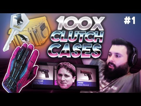 Opening 100 CLUTCH CASES! pt. 1