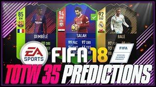 FIFA 18 - TOTW #35 PREDICTIONS ft. 94 RB Salah, 92 TIF Bale, 85 Dembele - #FIFA18 #TOTW35