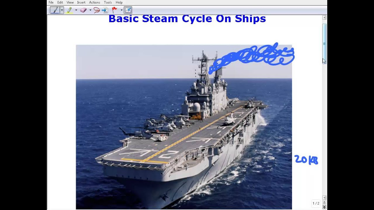 The Basic Steam Cycle- An Introduction To Ship Power Plants