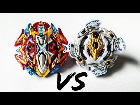 Buster Xcalibur VS Bloody Longinus   Xhan VS Lui   Beyblade Burst Super Z Battle