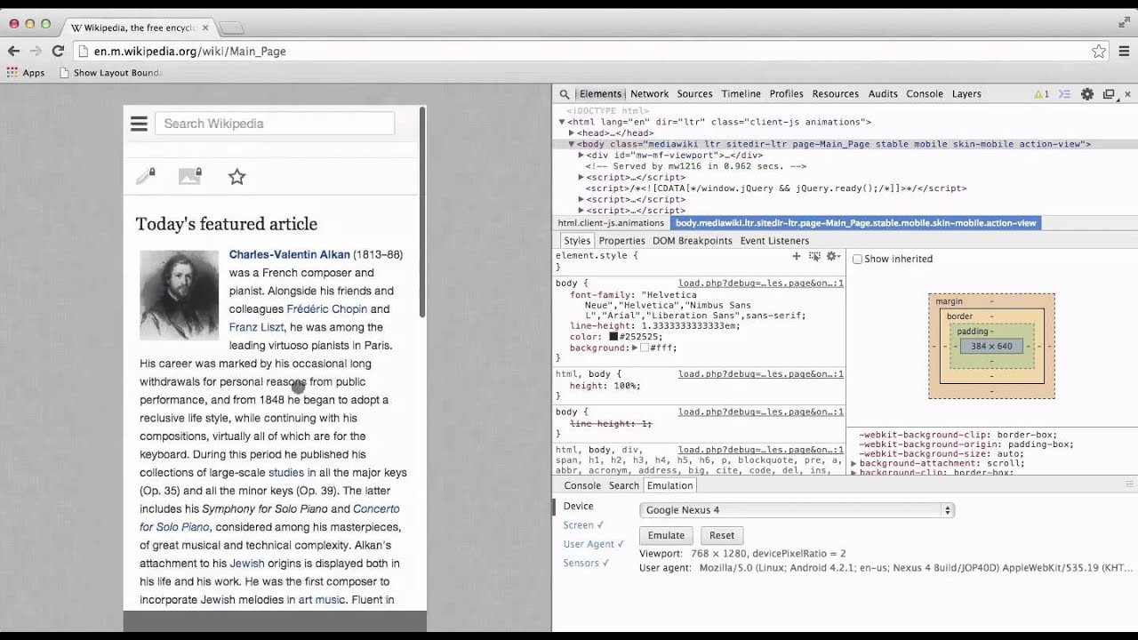 Chrome DevTools for Mobile: Screencast and Emulation - HTML5
