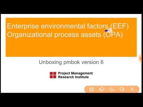 Unboxing PMBOK 6 : Organisational process assets and enterprise environmental factors