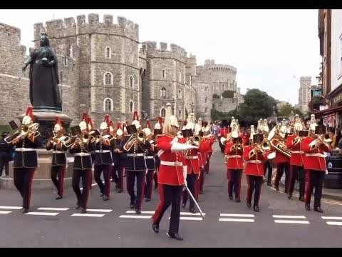 Changing the Guard at Windsor Castle - Saturday the 5th of August 2017