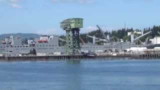 Arriving Puget Sound Navy Yard, Bremerton,WA 7/6/2013 past naval ships in dydrock