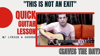 """""""This is Not an Exit"""" 