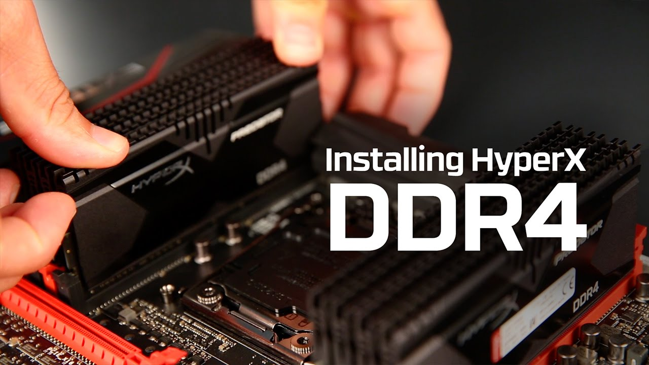 How to Install DDR4 memory - HyperX