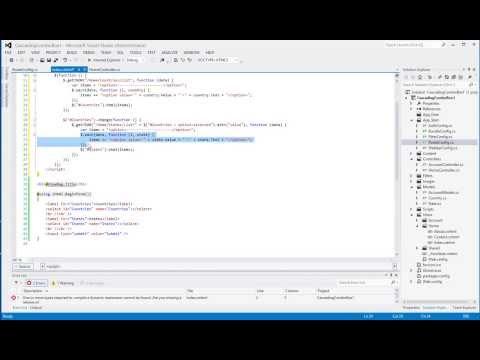 ASP NET MVC 4 - Cascading Drop Down List - YouTube