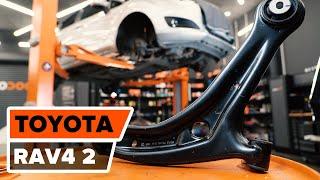 Montering Länkarm hjulupphängning vänster och höger TOYOTA RAV4: videoinstruktioner