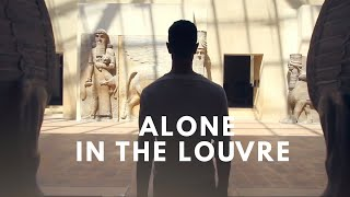 Alone in the Louvre
